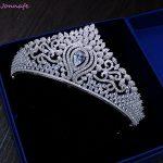 Jonnafe Luxury Zircon Crown Wedding Tiara Princess Party Headpiece Bridal Hair <b>Jewelry</b> Pageant Prom Women Hair Accessories