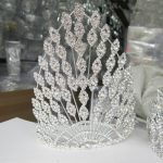 Big <b>Wedding</b> Tiara European Large Headpieces Luxury Bridal Hair Accessories Rhinestone Crystal Crowns Bridal Headband