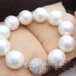 FREE SHIPPING>>White Sea 16mm shell Pearl <b>Bracelet</b>