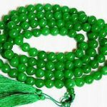 Tibetan <b>handmade</b> <b>jewelry</b> 108 Green stone Bead Tibet Buddhist Prayer Necklace 10mm silver