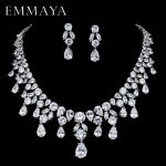 EMMAYA Brand New <b>Jewelry</b> Set For Woman Long <b>Necklace</b> Pendant Crystal Earrings Wedding Beads Fashion <b>Jewelry</b> Gift