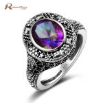 Fashion Saudi Vintage <b>Jewelry</b> Mystic Rainbow Topaz Austrian Crystal Ring For Women Turkish 925 Sterling Silver <b>Handmade</b> <b>Jewelry</b>