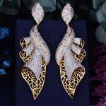 GODK 98mm Luxury Exclusive Dance Belt AAA Cubic Zirconia African <b>Wedding</b> Women Dress Earring Fashion <b>Jewelry</b>