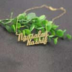 Gold Color Customized Two Names <b>Necklace</b> Two layer Big Pendant Personalized Nameplate <b>Necklace</b> Trendy Women Jewelry