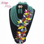 Luxury African beads <b>jewelry</b> sets india flower beaded nigerian wedding beads <b>necklace</b> dubai <b>jewelry</b> set W12891