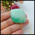 Natural Stone Chrysoprase necklace Pendant 39x31x11mm 17.83g fine <b>jewelry</b> semiprecious stone necklace beads for women
