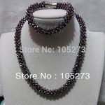 New Arriver Crystal <b>Jewelry</b> Set 4mm Silver Gray Color Crystal Bead Necklace Bracelet <b>Handmade</b> Festival <b>jewelry</b> New Free Shipping