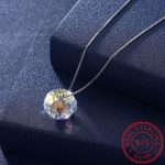 925 Silver <b>jewelry</b> Hot import crystal necklaces fashionable 925 sterling silver <b>handmade</b> round ball pendant necklaces for women