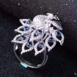 Natural blue sapphire gem Ring Natural red ruby Ring Pendant 925 <b>sterling</b> <b>silver</b> Two wears Luxury Peacock women gift <b>Jewelry</b>