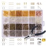 <b>Jewelry</b> <b>Making</b> Kit and Earring Repair Kits with Earring Hooks Screw Eye Pins for <b>Making</b> and Repairing Earrings