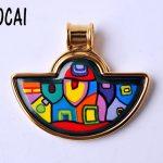 European and American style <b>jewelry</b> cloisonne <b>handmade</b> craft pendant