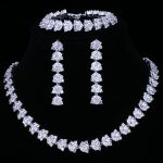 Emmaya Hot Sale Luxury Bridal <b>Jewelry</b> Sets For Women Sparkling AAA Zircon Paved By Hand 3 pcs Wedding Set <b>Jewelry</b>