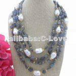22MM White Keshi Pearl&Labradorite <b>Necklace</b>