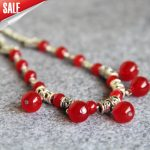 New 6-14mm Natural Red Chalcedony Necklace Gifts For Women Girls Beads Stone 15inch Fashion <b>Jewelry</b> <b>Making</b> Design Wholesale