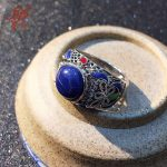 Chiang Mai, Thailand <b>handmade</b> enameled 925 sterling silver <b>jewelry</b> lapis lazuli ring for women female birthday gift christmas gi
