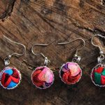 Guizhou old folk style <b>jewelry</b> <b>handmade</b> embroidered embroidery embroidery seedlings Silver Earrings small drop earrings