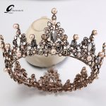 Baroque Crown Wedding Tiara Vintage Bridal Hair Accessories Hair <b>Jewelry</b> Alloy Tiaras Beauty Royal Crown Bridal Hair