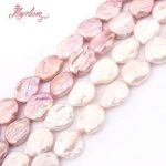 15-20mm Coin Freshwater Pearl Beads Natural Stone Beads For DIY Necklace Bracelet Earring <b>Jewelry</b> <b>Making</b> 14.5″ Free Shipping