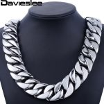 31mm 316L Stainless Steel Mens Boys Super Heavy <b>Silver</b> Tone Chain Curb Necklace Customized Wholesale Gift <b>Jewelry</b> LHN35