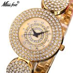 MISSFOX Miss Fox Luxury Ladies Watches Gold <b>Bracelet</b> Quartz Watch Women 2018 Fashion <b>Silver</b> Female Watch Water Resistant Clock