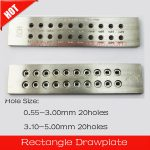 Rectangle Shape Tungsten Carbide Drawplate,Various models,Hole Size:0.55-3.00mm,3.10-5.00mm,hole number 20,<b>Jewelry</b> <b>Making</b> Tools