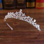 Full CZ Tiara Bride Cubic Zircon Crown Diadema Wedding Hair Accessories <b>Jewelry</b> Bijoux Tiaras Crowns Coroa De Novia WIGO1028