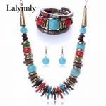Colourful <b>Fashion</b> Created Vintage <b>Jewelry</b> Set Bracelet Necklace Eearring Sets for Women Wholesale N25821