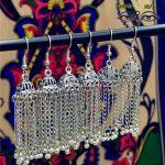 India Tassel Ancient Silver Earring Pakistan <b>Handmade</b> Tribal Turkey <b>Jewelry</b> Thailand Hippie Boho Exotic <b>Jewelry</b>