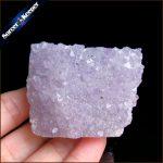 130g Natural Stone Purple Raw Amethysts Druzy Drusy Elestial Skeletal Quartz Crystal Cluster Specimen Fit <b>Jewelry</b> <b>Making</b> KS483