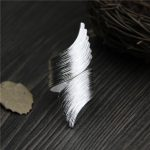 <b>Handmade</b> Stripe Pattern Exaggerated Flower Leaves Rings Wide Real Pure 999 Sterling Silver Rings For Women Lady Vintage <b>Jewelry</b>