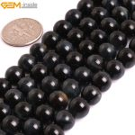 Gem-inside AAA Grade Genuine Natural Round Smooth Blue Tiger Eye Precious Stone Beads For <b>Jewelry</b> <b>Making</b> DIY