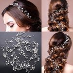 1M Long Fashion Simulate Pearl Hair Headdress <b>Wedding</b> Dress Hair Accessories Bride Hairwear Hair Band Bridal Hair <b>Jewelry</b> SGM004