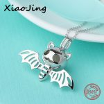 2018 New arrival 925 sterling silver cute animal bat glowing pendant chain necklace diy fashion <b>jewelry</b> <b>making</b> for women gifts