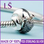 2018 Spring New In Real 925 <b>Silver</b> Sparkling Snail Charms Fit Original Bracelets&<b>Necklace</b> DIY Gift.Women Wedding Jewelry Beads.N