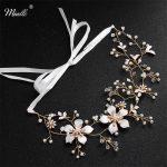 Miallo Newest Gold Color <b>Handmade</b> Headbands Hair Vine Blossom Headpiece Wedding Hair Accessories <b>Jewelry</b> for Bridal Hairstyle