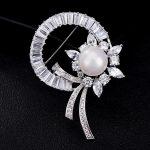 S.vex 2018 Fashion Bride Brooch Pin Clear Rhinestone Crystal Bridal Wedding <b>Accessories</b> <b>Jewelry</b> For Woman Lady