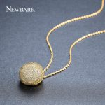 NEWBARK Top Selling Cute Small Pendant <b>Necklace</b> Bijouterie Style Round Shape Classic Gold And <b>Silver</b> Color Bead Jewelry For Girl