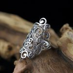 L&P Hot Sale 100% Real 925 Sterling Silver Vintage Rings for Women <b>Handmade</b> Hollow Cloulds Ring Fine <b>Jewelry</b> For Birthday gift