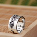 FNJ 925 Silver Buddha Ring Good Luck Original Pure S925 Sterling Thai Silver Rings for Men Women <b>Jewelry</b> Girl Adjustable Size