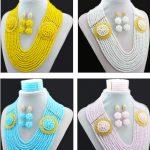 New Arrival Nigerian Wedding African Beads <b>Jewelry</b> Set <b>Handmade</b> Bridal <b>Jewelry</b> Sets Statement Necklace 2016 Free Shipping