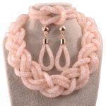 Special offer high quality <b>fashion</b> bridal <b>jewelry</b> sets blue mesh transparent crystal summer style <b>jewelry</b> sets