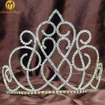 Pretty Wedding Bridal Tiara 6.25″ Gold Diadem Brides Heaband Clear Rhinestones Crystals Pageant Prom Party Hair <b>Jewelry</b>