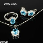 KJJEAXCMY Fine jewelry,925 <b>silver</b> inlay natural blue topaz set a minimalist boutique on behalf of <b>silver</b>