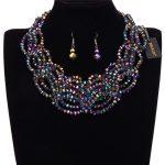 JEROLLIN Crystal Necklace Sets Rhinestone Wedding <b>Accessory</b> Bridal Necklace Earrings Christmas Gift Necklace Women <b>Jewelry</b> Sets