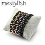 Mestylish Square Bracelet Micro Pave Stingray Leather Square Beads Bracelet <b>HandMade</b> Braided Men Women Bracelet <b>Jewelry</b>