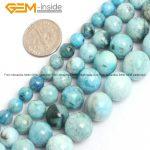 """Gem-inside 6-12mm Natural Stone Beads Round Loose Blue Hemimorphite Beads For <b>Jewelry</b> <b>Making</b> Beads 15"""" DIY Beads Gift"""
