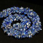beautiful Irregular lapis lazuli gravel stone natural beads High-grade <b>Jewelry</b> Necklace <b>making</b> 18 inches GE5362