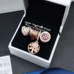 4pcs Rose Gold <b>Jewelry</b> Set Heart and Tree CZ Dangle Charms Beads Fit DIY Bracelet Necklaces <b>Jewelry</b> <b>Making</b> Woman Gift