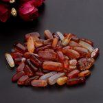 SAUVOO Approx.40cm/lot Semi Precious Red Bead Onyx Natural Stone Beads 5-8mm for DIY Handmade <b>Jewelry</b> <b>Making</b> Findings F1829