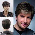Men's Men Medium Long Youth light blonde Casual Modern Dark Brown BLACK Gary male cosplay peruca hair hair wig